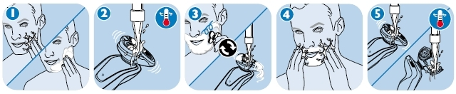philips wet and dry shaver instructions